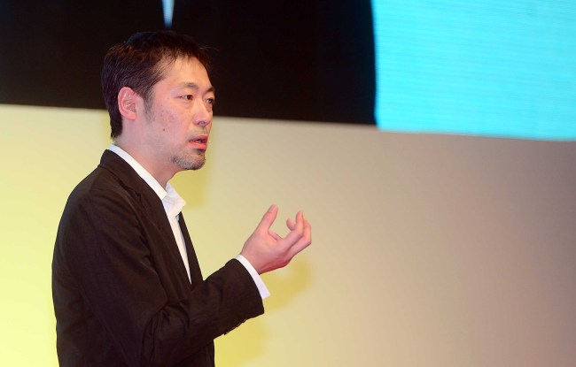 Terao Gen speaks at The Herald Design Forum at The Shilla Seoul on Tuesday. (Lee Sang-sub/The Korea Herald)