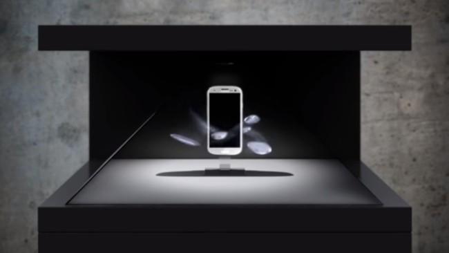 "Screenshot from YouTube video titled ""Samsung Galaxy Hologram Showcase"""