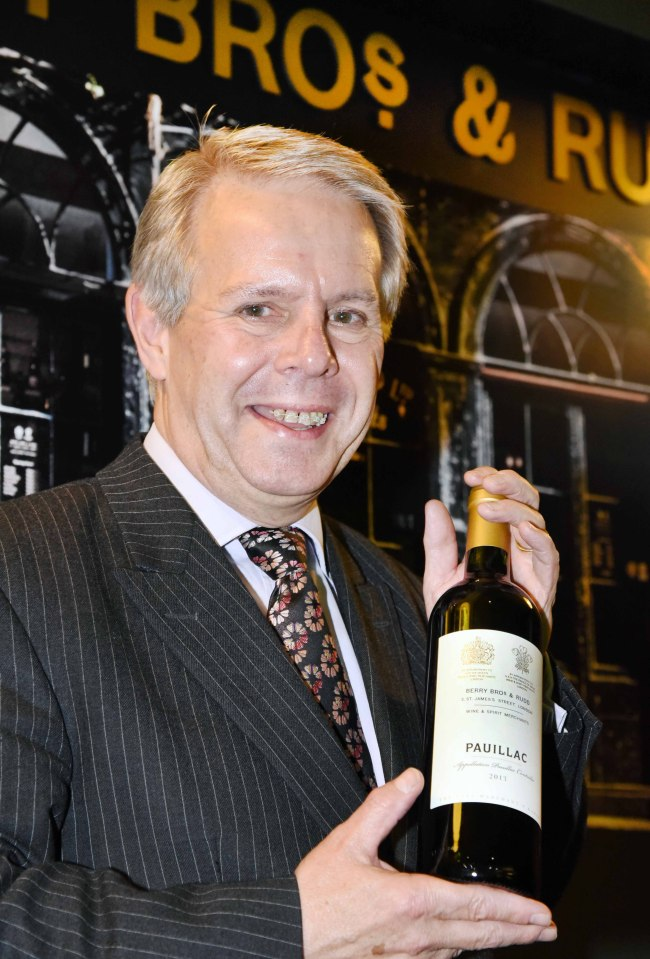 Berry Bros. & Rudd Wine Director Mark Pardoe poses with a bottle of Pauillac from The Wine Merchant's range, launched in Korea through Homeplus. (Homeplus)
