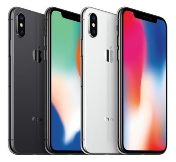 Some of Apple Inc.`s iPhone X smartphones are shown in this picture released by SK Telecom Co. on Nov. 16, 2017. (Yonhap)