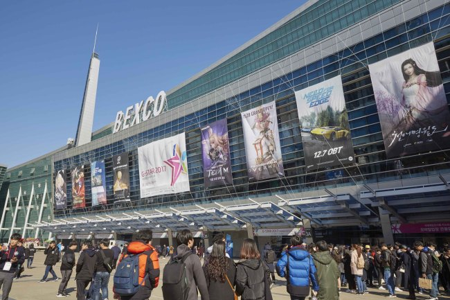 A view of the BEXCO Convention Center in Busan, where the G-Star 2017 game show is taking place (Nexon)