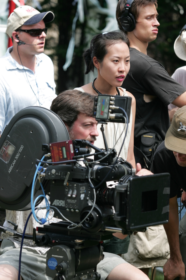 Gina Kim directs on set in this handout photo distributed Sunday. (Cyan Films)