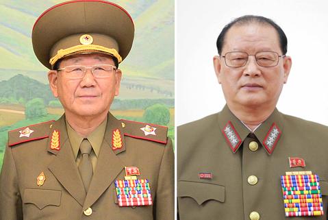 Hwang Pyong-so (left) and Kim Won-hong (Yonhap)
