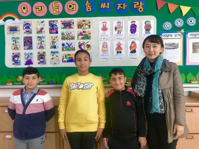 (From left) Sadeed, Yana, Bakri and Park Jung-eun (Bak Se-hwan/The Korea Herald)