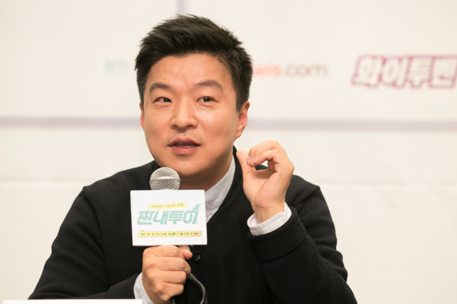 Kim Saeng-min speaks to reporters at a press conference in Mapo-gu, Seoul on Thursday. (CJ E&M)