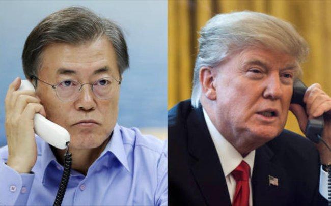 President Moon Jae-in and US President Donald Trump. Yonhap