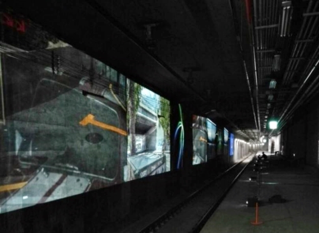 """The """"ghost station"""" under the Sinseol-dong subway station (Seoul Metropolitan Government)"""
