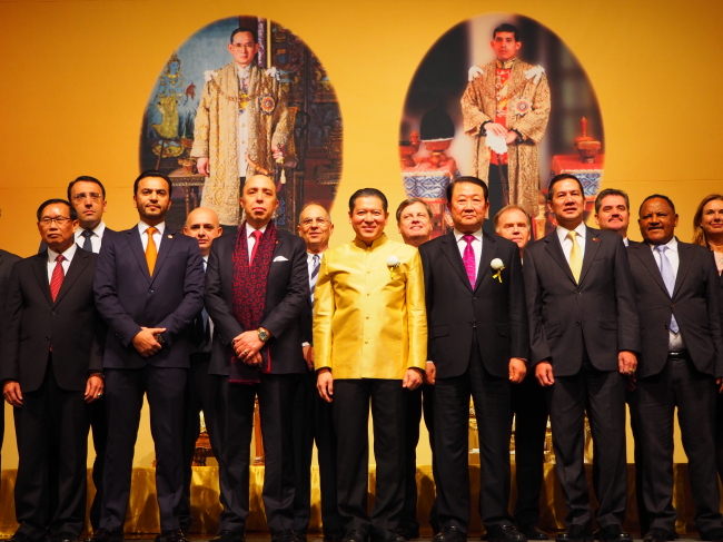 Foreign ambassadors at the Father's Day reception organized by the Royal Thai Embassy in Seoul on Dec. 1 (Joel Lee/The Korea Herald)