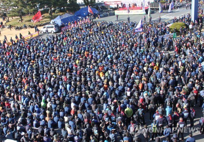 Hyundai Motor's unionized labor will stage partial strikes for five consecutive days until Friday. (Yonhap)