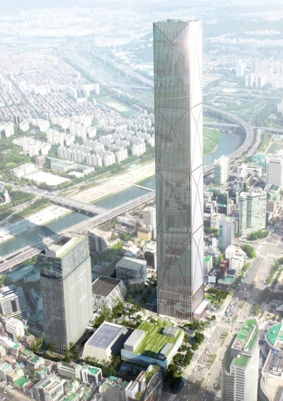 Bird's-eye view of Hyundai Global Business Center (Hyundai Motor)