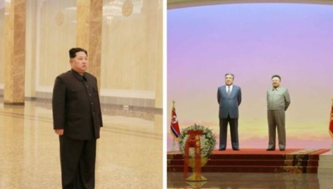 NK leader visits mausoleum for late father, vows 'fight' for strong nation