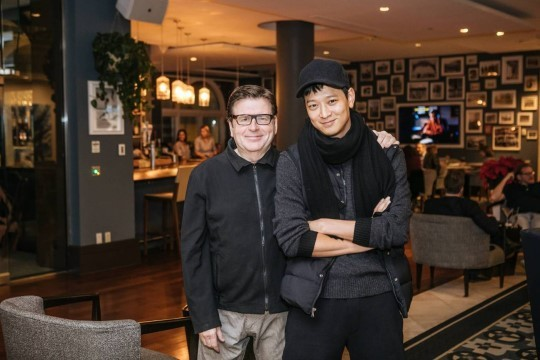 Simon West (Left) and Gang Dong-won (Right) (YG Entertainment)