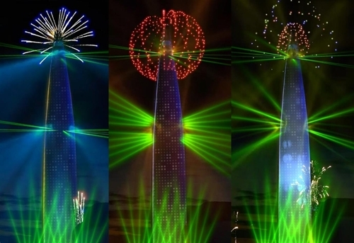 A large-scale fireworks display will take place at Lotte World Tower in Seoul on Dec. 31. (Lotte Property & Developmnet)