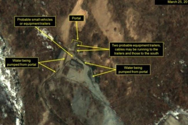 Satellite imagery shows North Korea`s nuclear test site in a photo released by 38 North. (Yonhap)