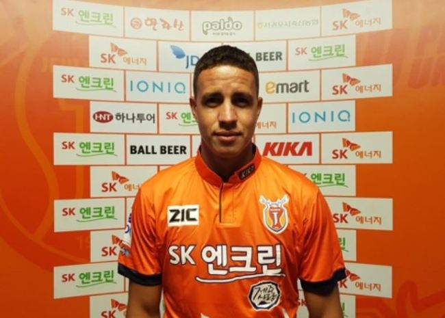This photo, provided by South Korean football club Jeju United on Dec. 29, 2017, shows the club`s new Brazilian forward Roberson de Arruda Alves. (Yonhap)