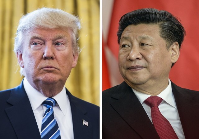 US President Donald Trump and his Chinese counterpart Xi jinping. Yonhap