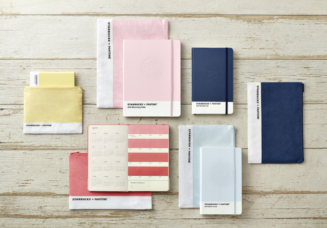 Planners from the Pantone-Starbucks collaboration in 2017 (Starbucks)