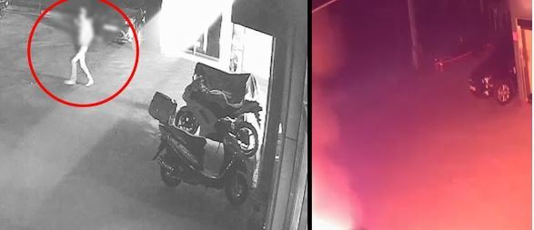 Two images from a CCTV near the site (Yonhap)