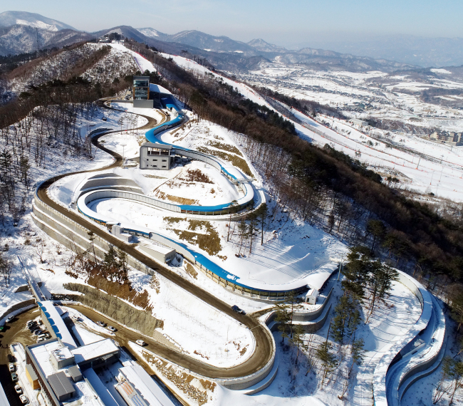 Alpensia Sliding Center in PyeongChang, Gangwon Province (Park Hyun-koo/The Korea Herald)