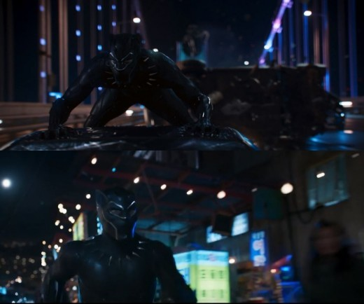 """Scenes from the trailer of """"Black Panther"""" (Walt Disney Company Korea)"""