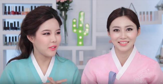 Min Sae-rom (left) and Kim Ah-ra (YouTube)