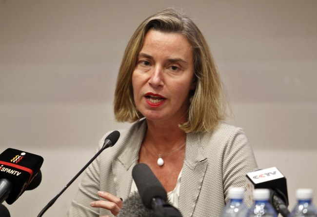 Head of European Union diplomacy, Federica Mogherini (EPA)