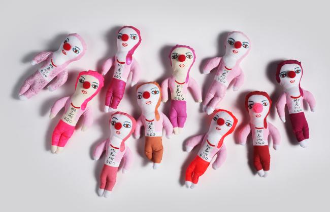 Pink-o dolls represent artist Moon Jung-whe's liberation. (WTFM)