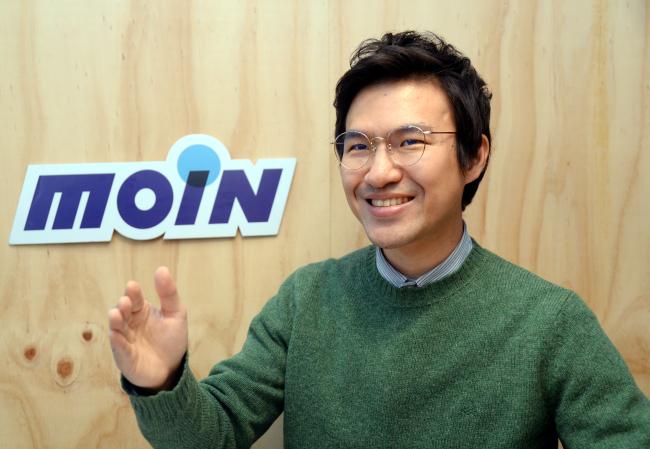 Moin founder and Chief Executive Ian Suh (Park Hyun-koo/The Korea Herald)