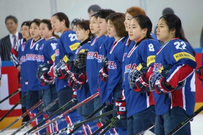 The South Korean women`s ice hockey team. (Yonhap)