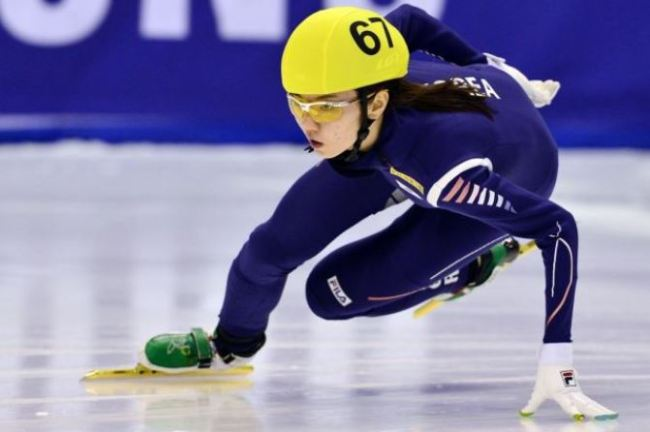 Shim Suk-heec, captain of South Korea`s women`s short track speed skating team. (AFP-Yonhap)
