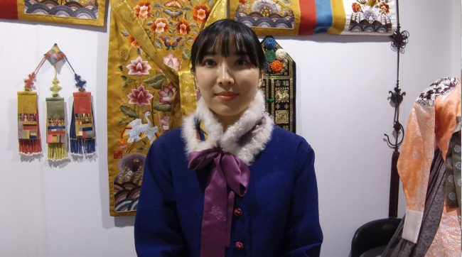 Yoon Jung-sun of Sewing Landscape (Lim Jeong-yeo/The Korea Herald)