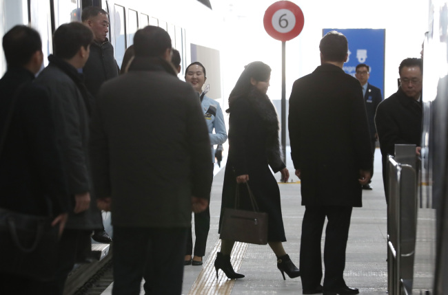 Hyon Song-wol arrives in Gangneung (Yonhap)