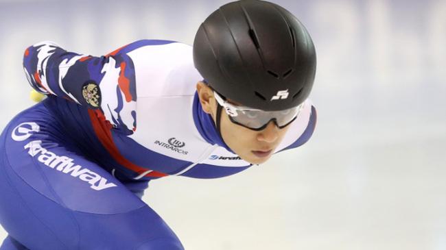 Short track speedskater Viktor Ahn. Yonhap
