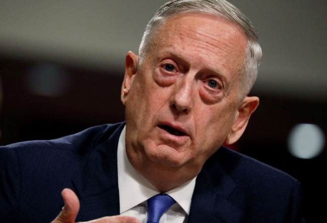 US Defense Secretary Jim Mattis (Reuters)