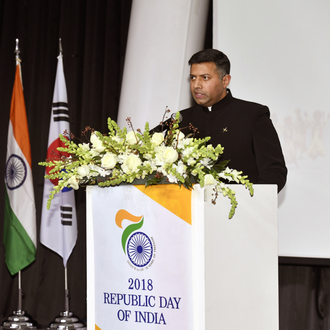 Indian Ambassador to Korea Vikram Doraiswami (Indian Embassy)