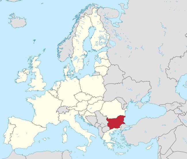 Bulgaria (red) in the European Union (white) (Wikipedia)