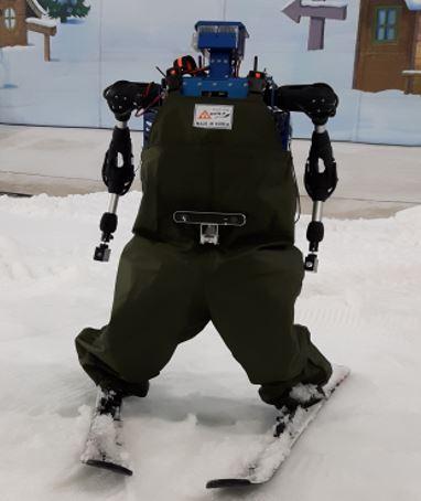 KAIST`s skiing robot TIBO (Korea Institute for Robot Industry Advancement)