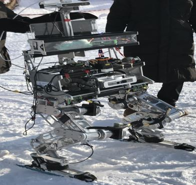 Seoul National University of Science and Technology`s skiing robot Rudolph (Korea Institute for Robot Industry Advancement)