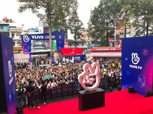 A local event by V Vietnam in Ho Chi Minh City, Vietnam (Photo courtesy of Naver-Yonhap)