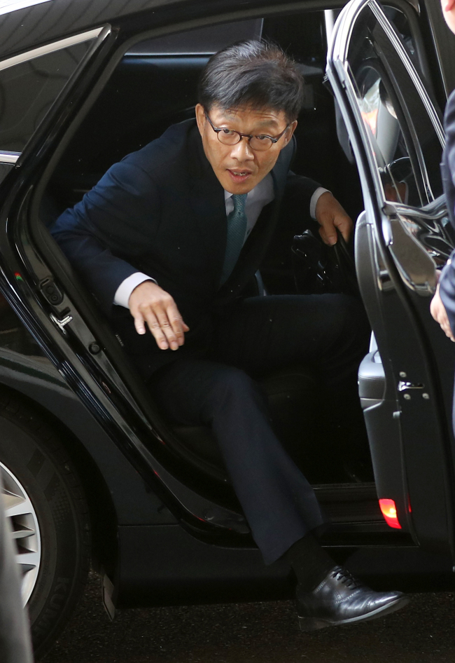 Ahn Tae-guen, a former chief of the policy planning department at the Ministry of Justice (Yonhap)