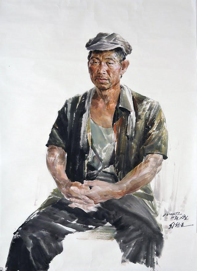"""""""A Worker"""" by Choe Chang-ho (Yonhap)"""