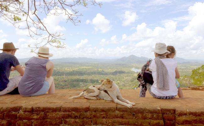 A view atop Siririya Rock Fortress in Sri Lanka (Joel Lee/The Korea Herald)