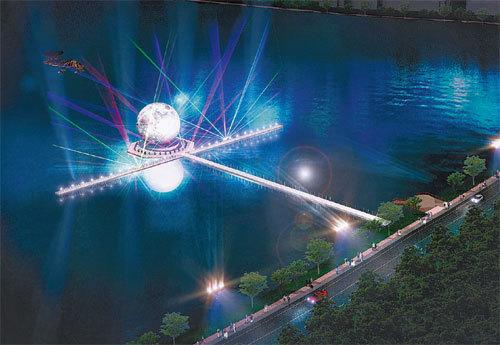"Light art show called ""Moonlight Lake"" at Gyeongpo Lake will run from Feb. 3 to March 18. (PyeongChang Organizing Committee)"