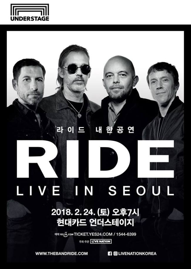 Official poster for Ride`s concert in Korea (Ride`s Facebook page)