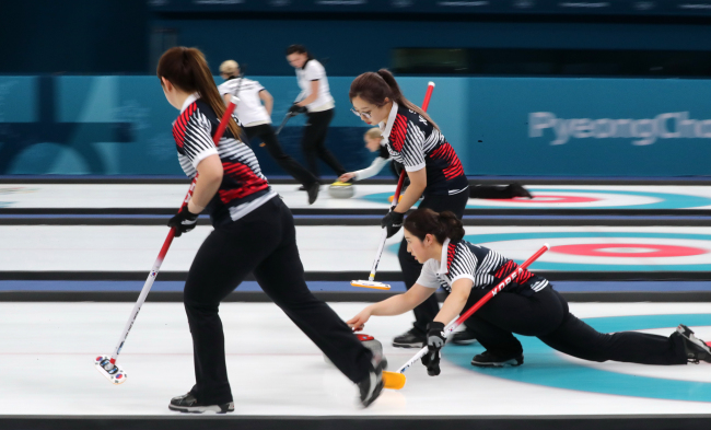 South Korean female curling team (Yonhap)