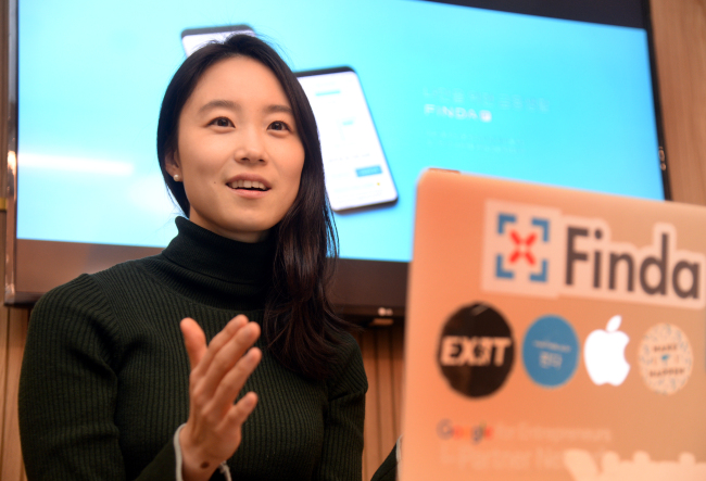 Lee Hye-min, co-CEO of Finda (Park Hyun-koo / The Korea Herald)