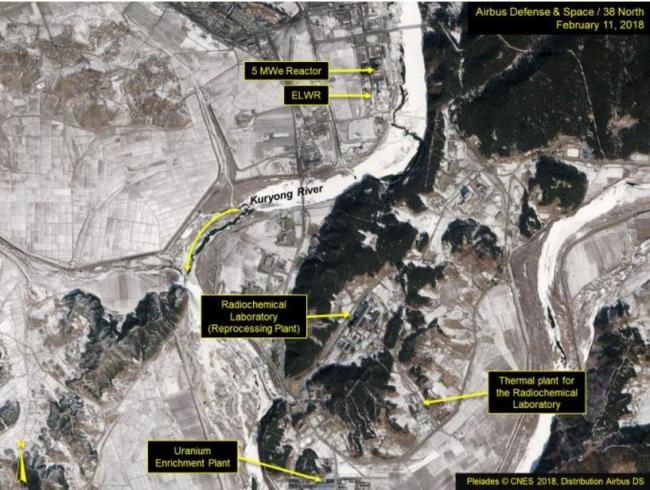 Satellite image of the Yongbyon nuclear facility cited by 38 North. yonhap
