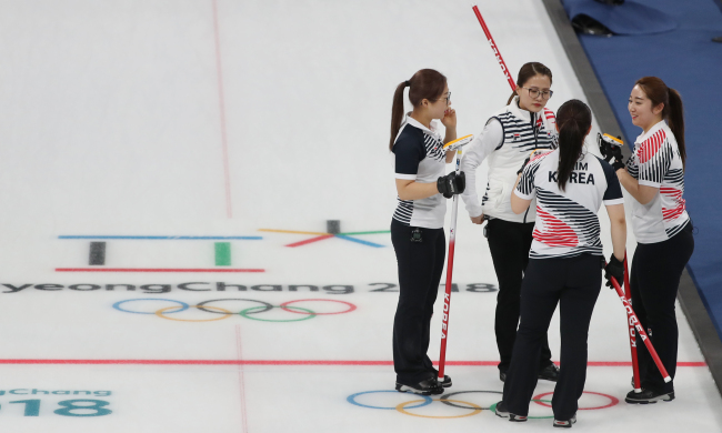 South Korea`s Olympics women`s curling team (Yonhap)