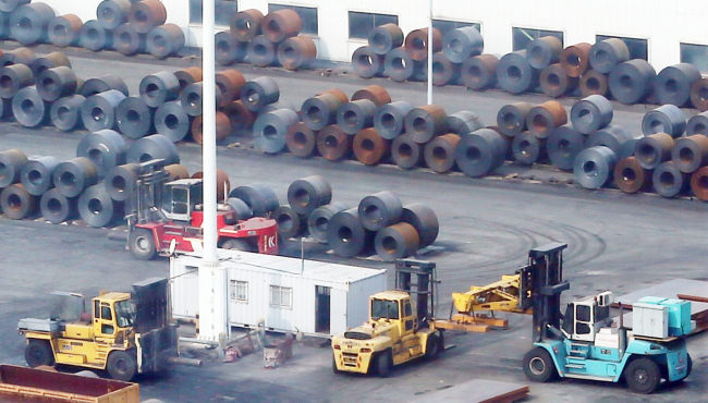 An external view of a hot rolled coil factory in Dangjin, South Chungcheong Province, South Korea. (Yonhap)