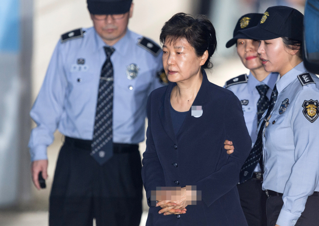 Former South Korean President Park Geun-hye, who was impeached over a corruption scandal. (Yonhap)